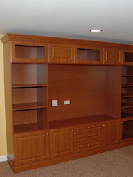 Media Center with Crown and Base Molding
