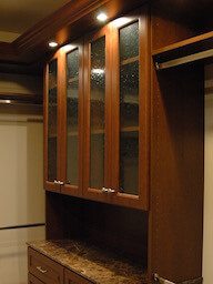 Seeded Glass Doors Closet