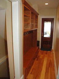 Built In Hallway Mudroom