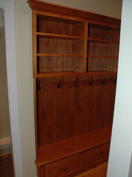 Mudroom Built In Drawers Hooks Shelves