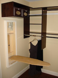 Ironing Board in Closet