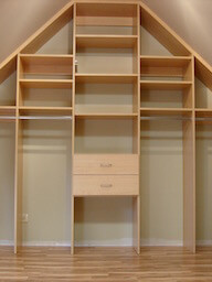 Angled Ceiling Storage