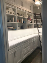 Pantry with Rolling Ladder