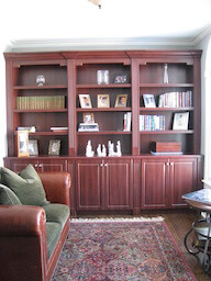 Built In Cabinet with Fluted Columns