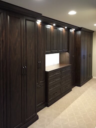 Wardrobe Cabinets across Wall